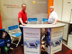 OneBeacon Technology's Joe Budzyn and John Wurzler manning the booth at EDS 2014.